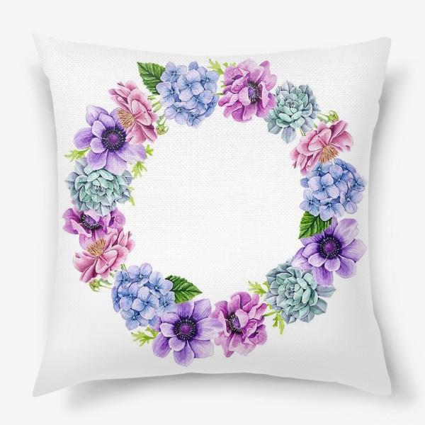 Подушка «Flower Buds 4»