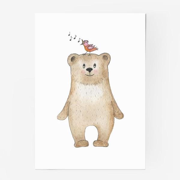 Постер «Медведь и певчая птица»