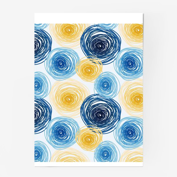 Постер «Pattern Van Gogh style»