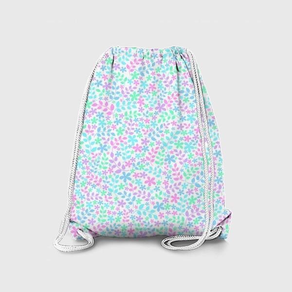 Рюкзак «Цветы и листья»