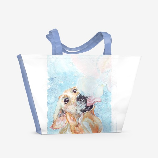 Пляжная сумка «Ретривер и мыльные пузыри»