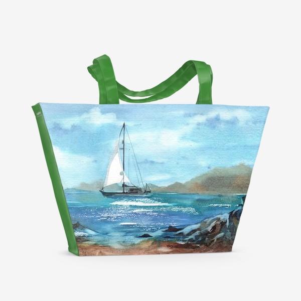 Пляжная сумка «Белый парус»