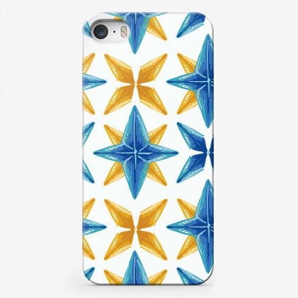 Чехол iPhone «Желто-синие звёзды»
