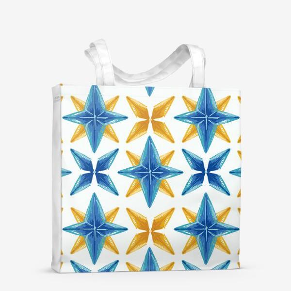 Сумка-шоппер «Желто-синие звёзды»