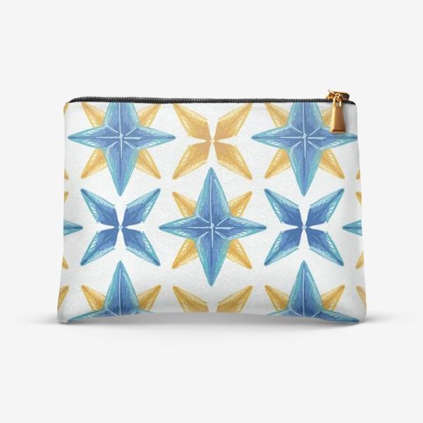 Косметичка «Желто-синие звёзды»