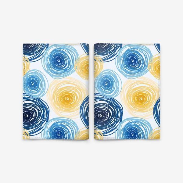 Обложка для паспорта «Pattern Van Gogh style»