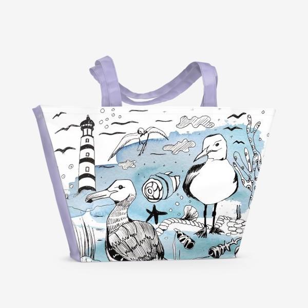 Пляжная сумка «чайки»
