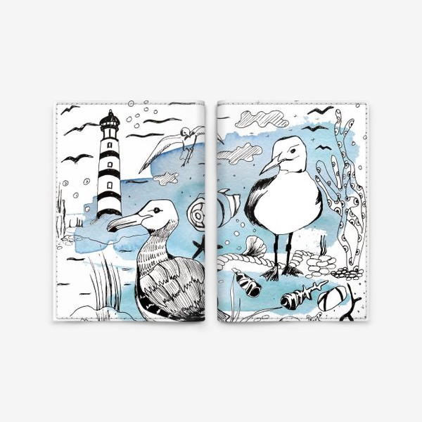 Обложка для паспорта «чайки»
