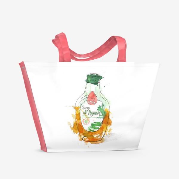 Пляжная сумка «Акварель. Сироп»