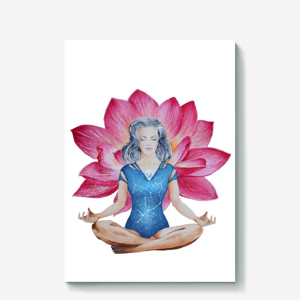 Холст «Лотос. Медитация»