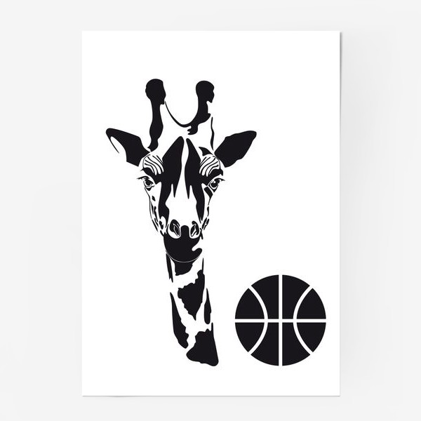 Постер «Жираб-баскетболист»