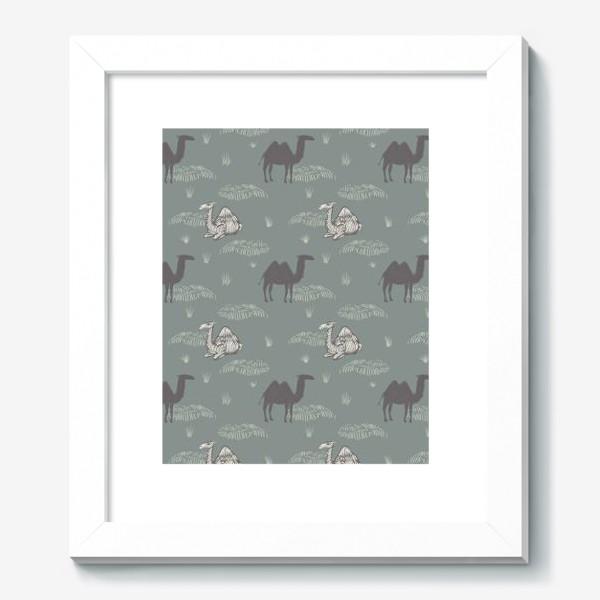 Картина «Верблюды в сумерках. Camels in dusk.»