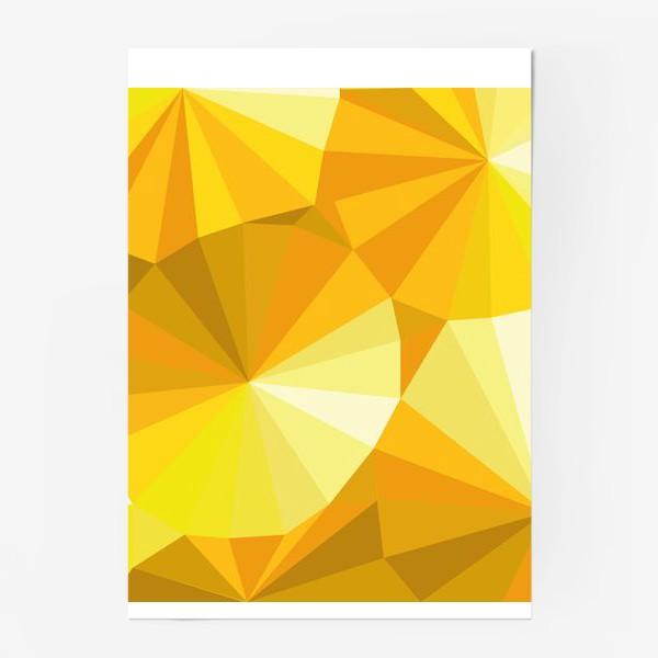Постер «Солнечные зонты в стиле Low poly»