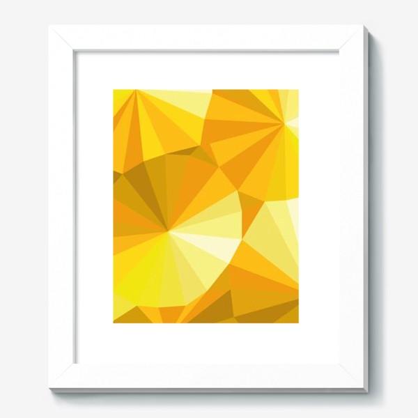 Картина «Солнечные зонты в стиле Low poly»