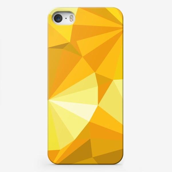 Чехол iPhone «Солнечные зонты в стиле Low poly»