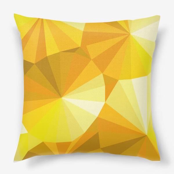 Подушка «Солнечные зонты в стиле Low poly»