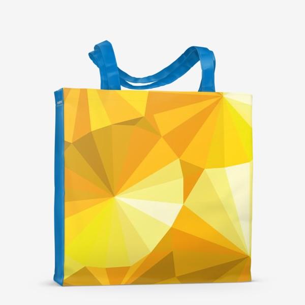 Сумка-шоппер «Солнечные зонты в стиле Low poly»