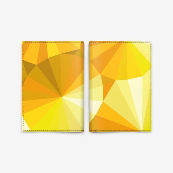 Обложка для паспорта «Солнечные зонты в стиле Low poly»