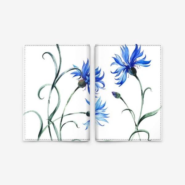 Обложка для паспорта «Васильки и бабочка»