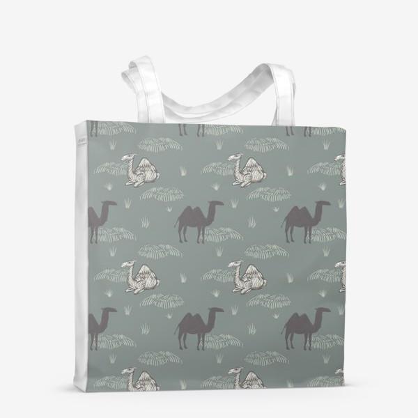 Сумка-шоппер «Верблюды в сумерках. Camels in dusk.»