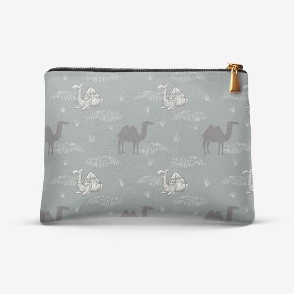 Косметичка «Верблюды в сумерках. Camels in dusk.»