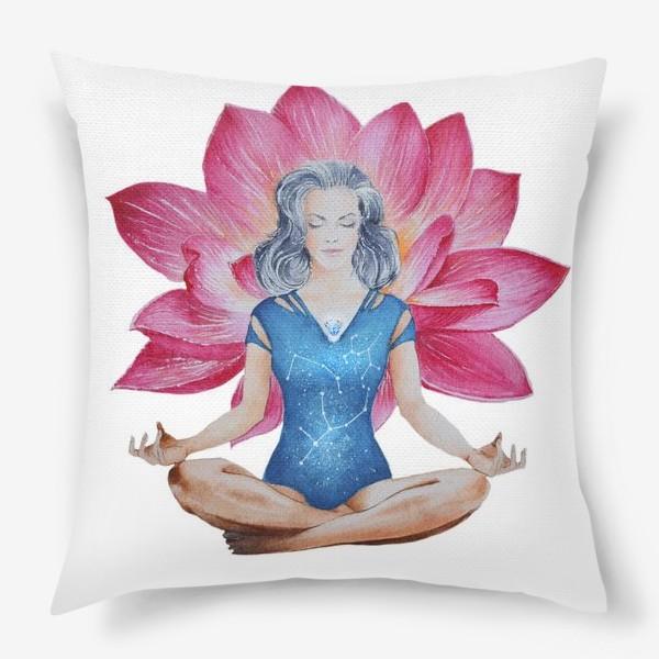 Подушка «Лотос. Медитация»