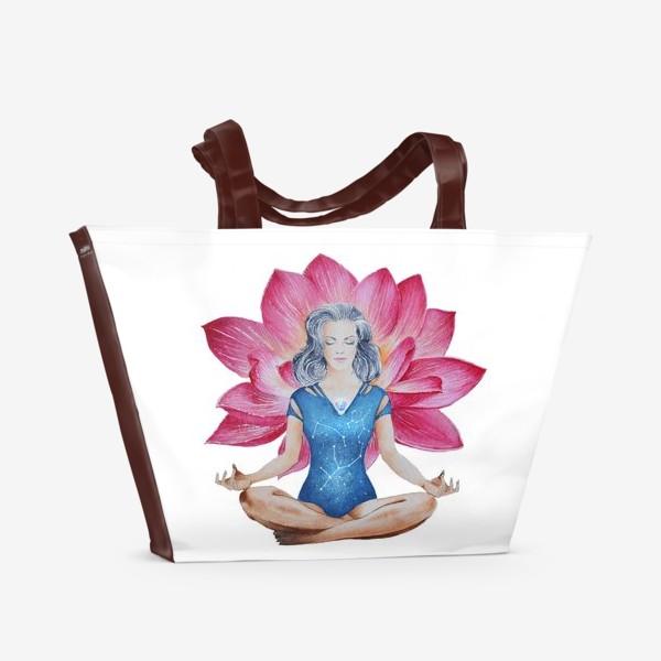 Пляжная сумка «Лотос. Медитация»