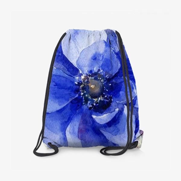 Рюкзак «Синие цветы Анемоны»