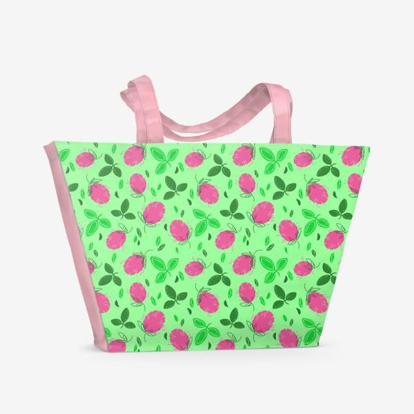 Пляжная сумка «Лужайка клевера»
