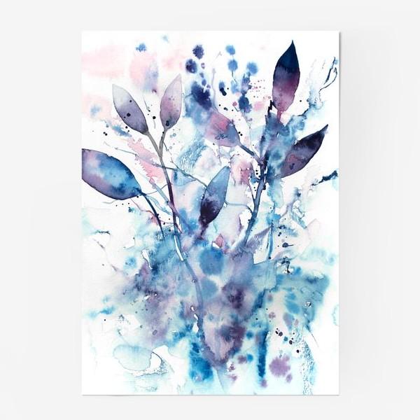 Постер «Акварельный абстрактный букет»