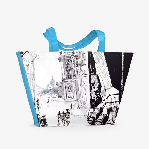 Пляжная сумка «Санкт Петербург Дворцовая площадь Атланты»