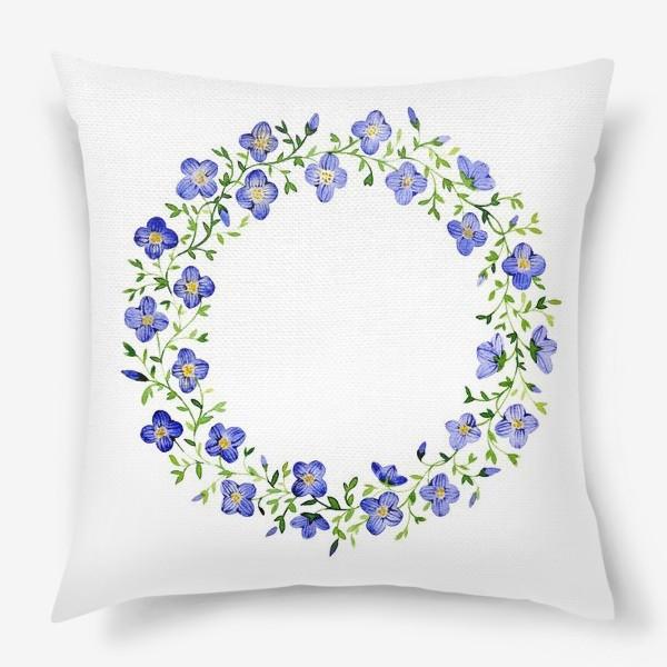 Подушка «Венок из нежных цветов»