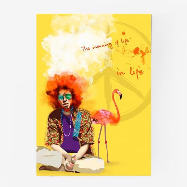 Постер «Хиппи и Фламинго»