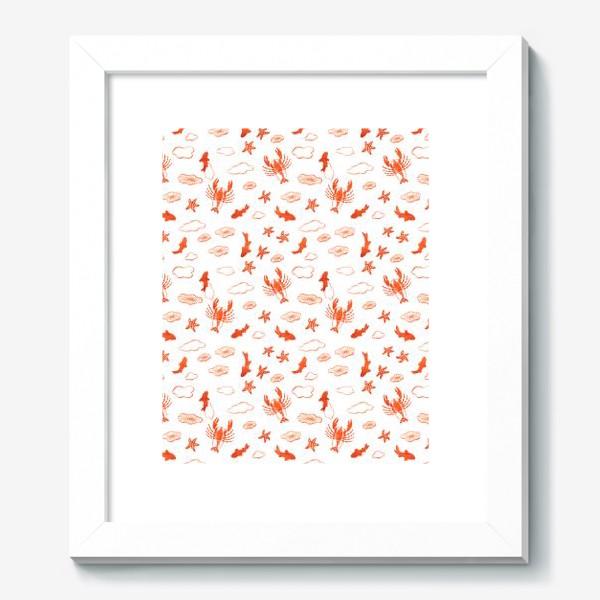 Картина «Морское ассорти. Лобстер, золотые рыбки, морские звезды и медузы»