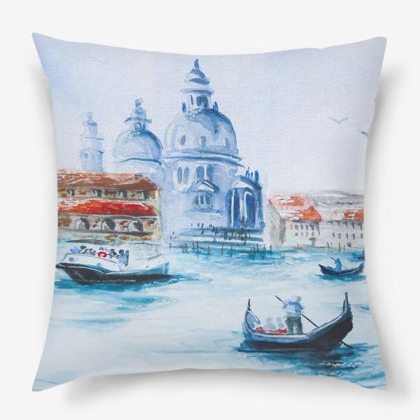 Подушка «Венеция, лодки»