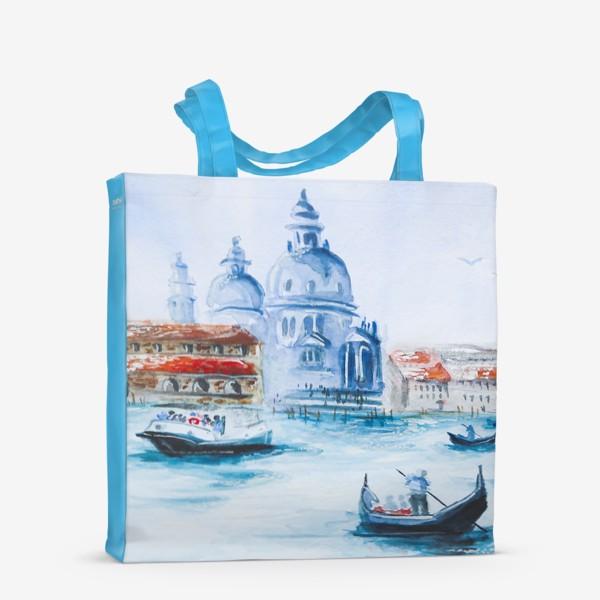 Сумка-шоппер «Венеция, лодки»