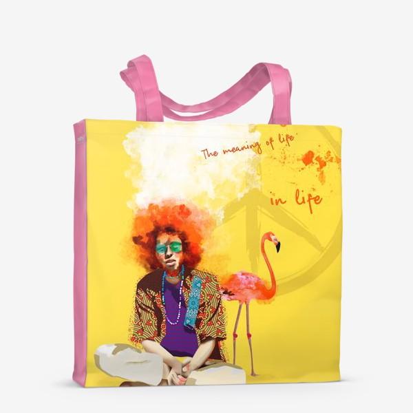 Сумка-шоппер «Хиппи и Фламинго»
