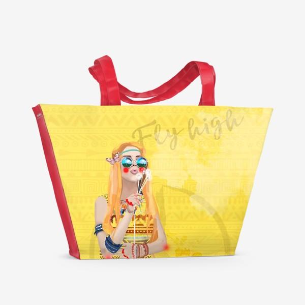 f6b339ab5251 Пляжная сумка «Девушка Хиппи», купить в интернет-магазине в Москве ...