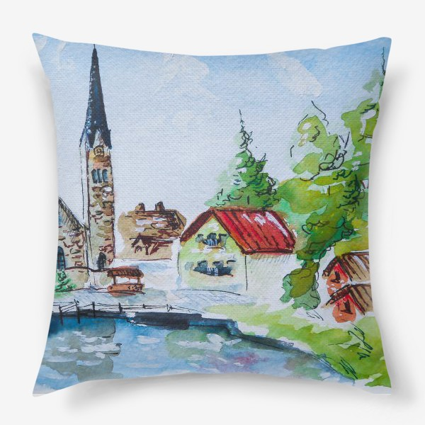 Подушка «Австрийский пейзаж»