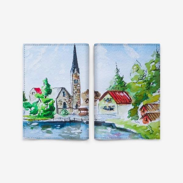 Обложка для паспорта «Австрийский пейзаж»