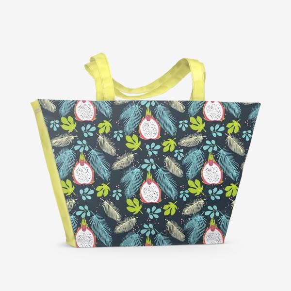 Пляжная сумка «Питая в синих листьях»