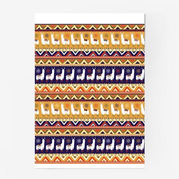 Постер «Альпаки и геометрия»