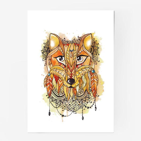 Постер «Акварельная лиса»