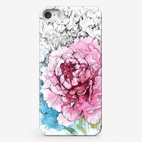 Чехол iPhone «Пионовое настроение»