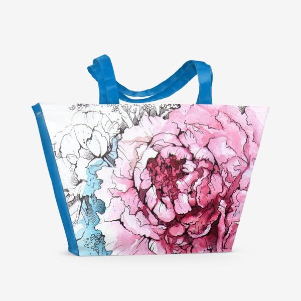 Пляжная сумка «Пионовое настроение»