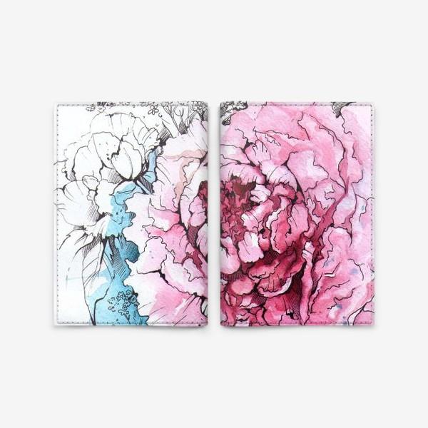 Обложка для паспорта «Пионовое настроение»