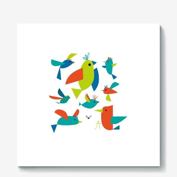 Холст «пташки»