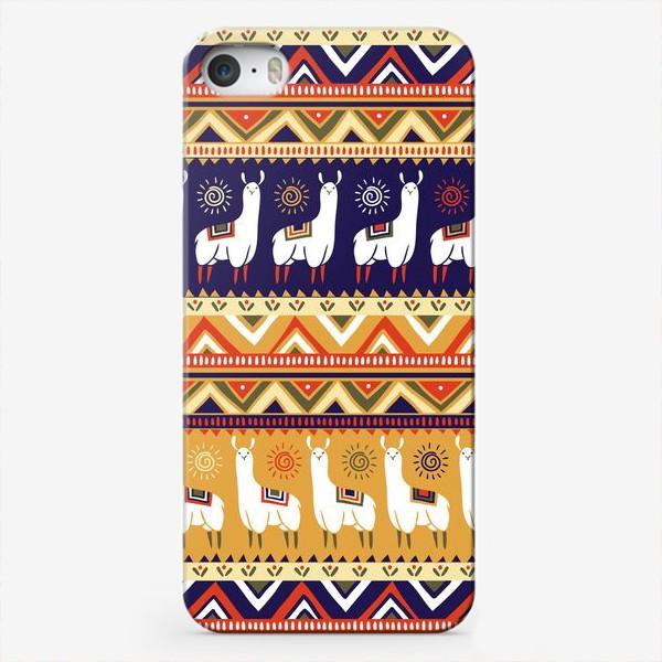 Чехол iPhone «Альпаки и геометрия»