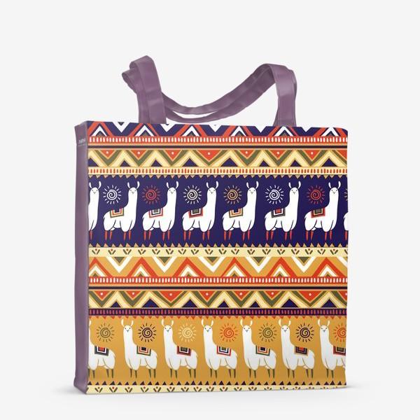 Сумка-шоппер «Альпаки и геометрия»