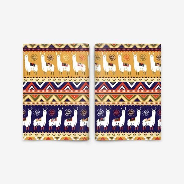 Обложка для паспорта «Альпаки и геометрия»